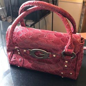 Guess Leather crocodile style handbag